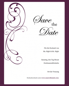 Save the Date Text deutsch