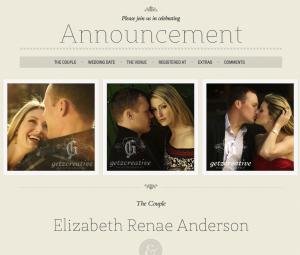 Wordpress Theme für eine Hochzeitswebseite