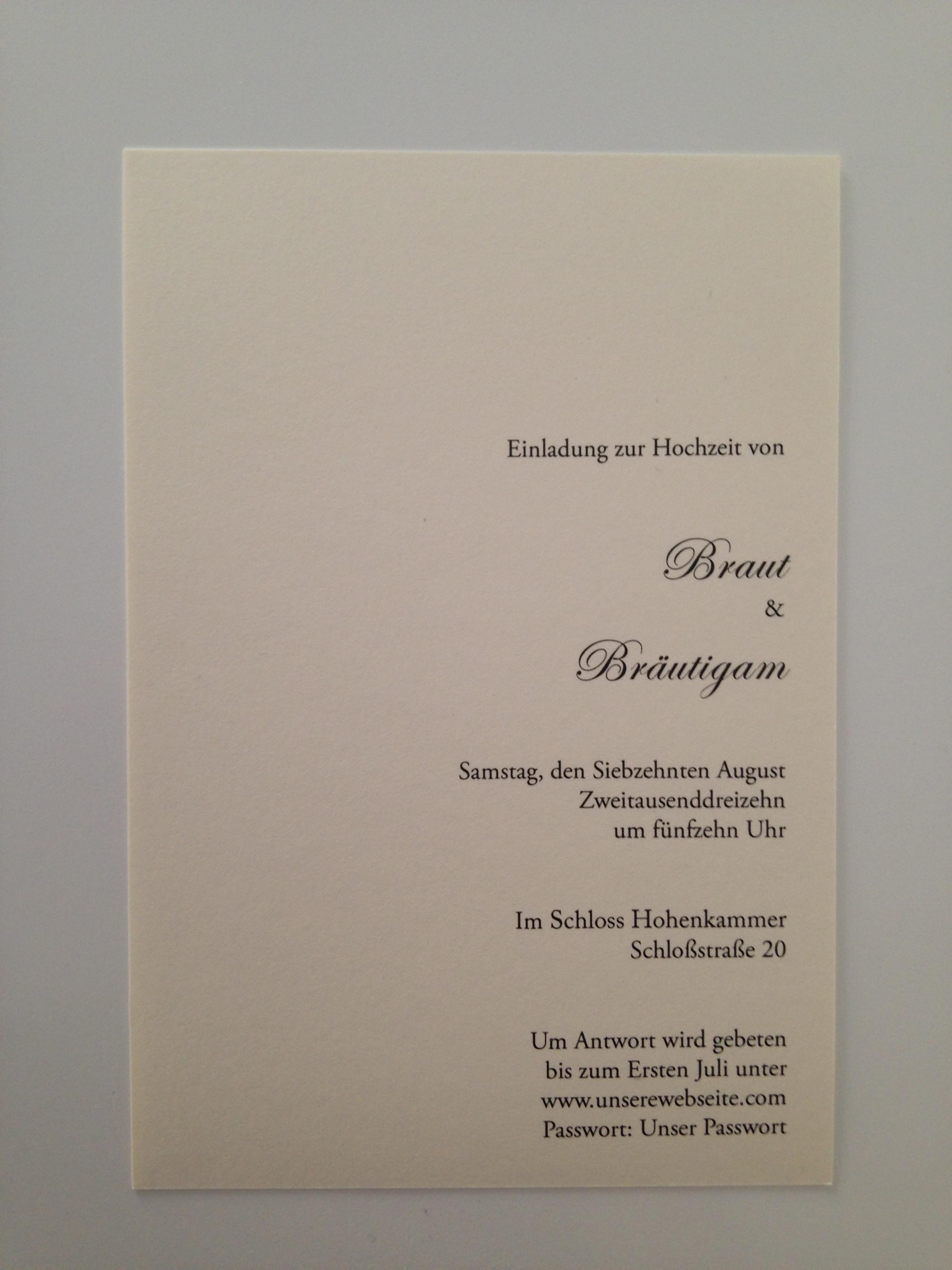 Text Hochzeitseinladung